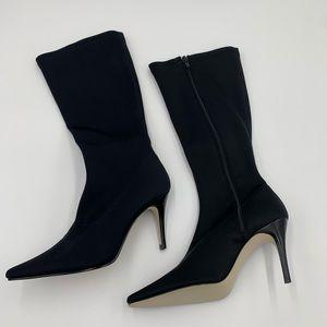 Isaac Mizrahi Blk mid calf boots - stretch